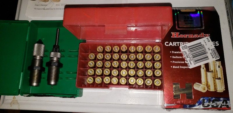 300 Savage reloading dies, new brass, and extras