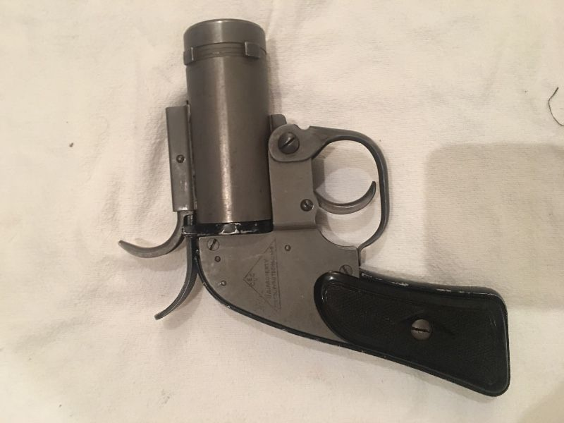 WWII Flare Pistol from a B-17