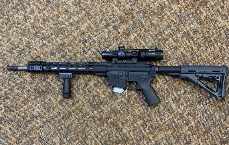 Custom AR-15 rifle - 5.56mm caliber