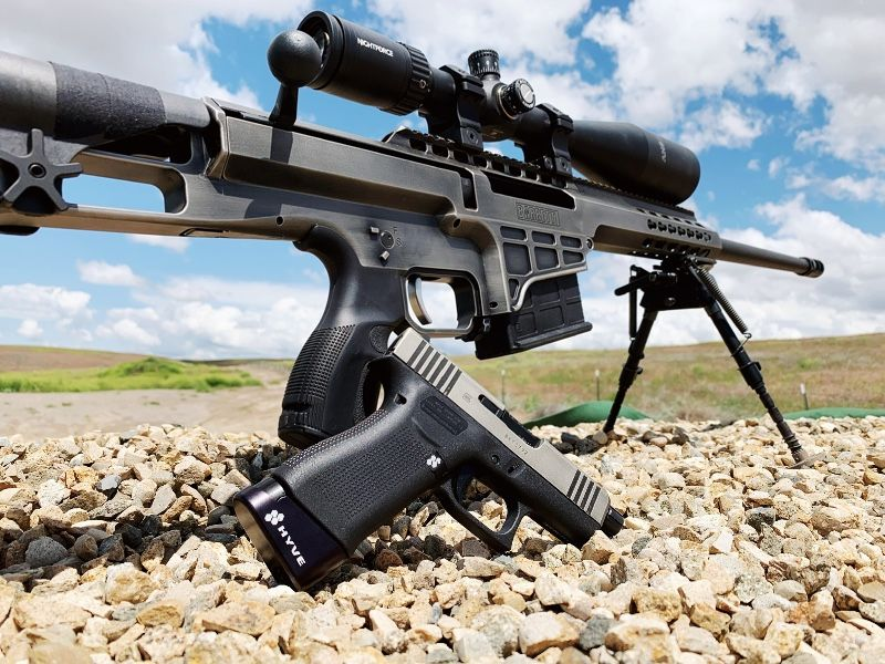 Barrett 338 Lapua and Nightforce scope