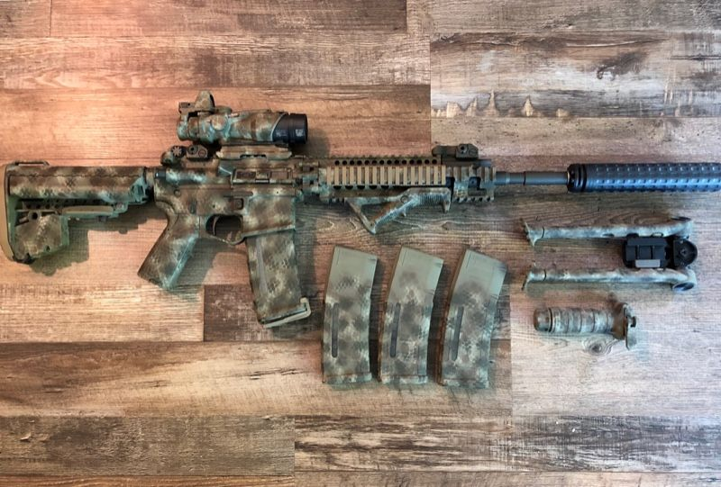 Custom AR15 5.56 w/ACOG RMR Cerakote Accessories