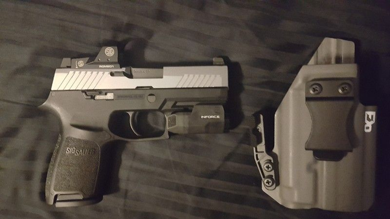 New P320 RX compact w red dot, light and holster