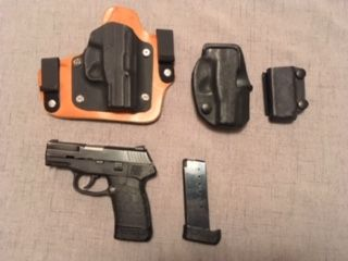 Kel-Tec PF9 w/ IWB and OWB holsters
