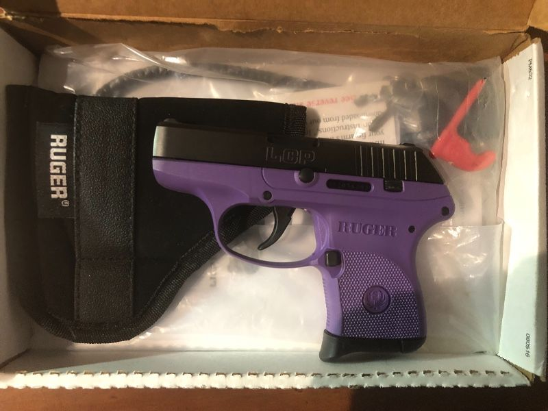 Brand New Purple Ruger LCP.380