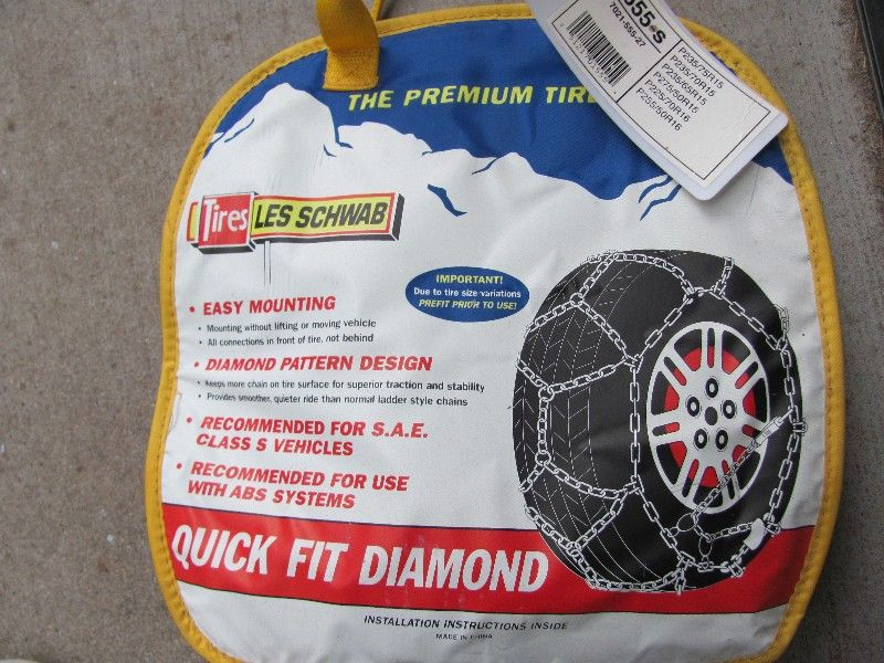 "NEW 15"" 16"" LES SCHWAB TIRE CHAINS-SEE PICTURES"