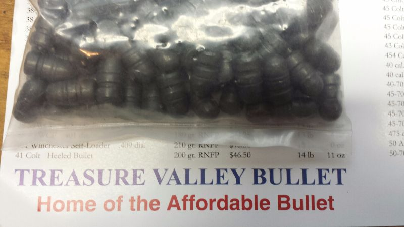 Treasure Valley Bullet.