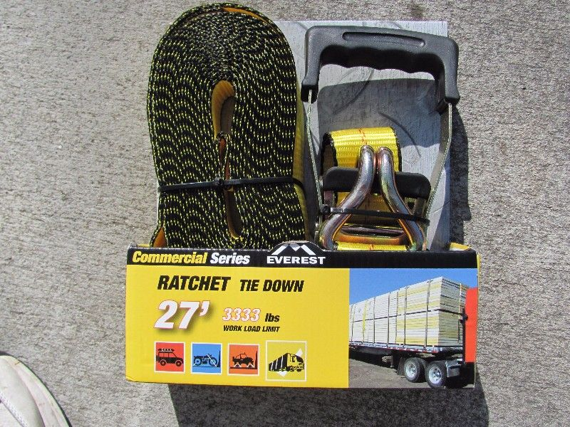 3,333 LB. WLL COMMERCIAL RATCHET TIE DOWN-$25