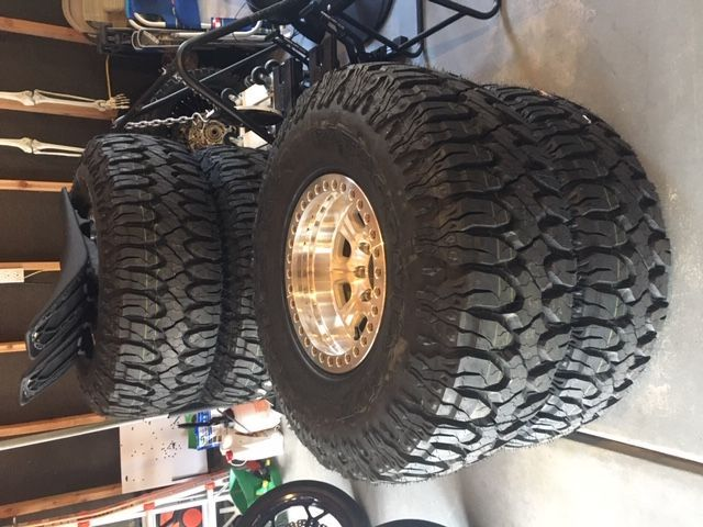 "Raceline beadlocks with 38"" tires- off road $1950"
