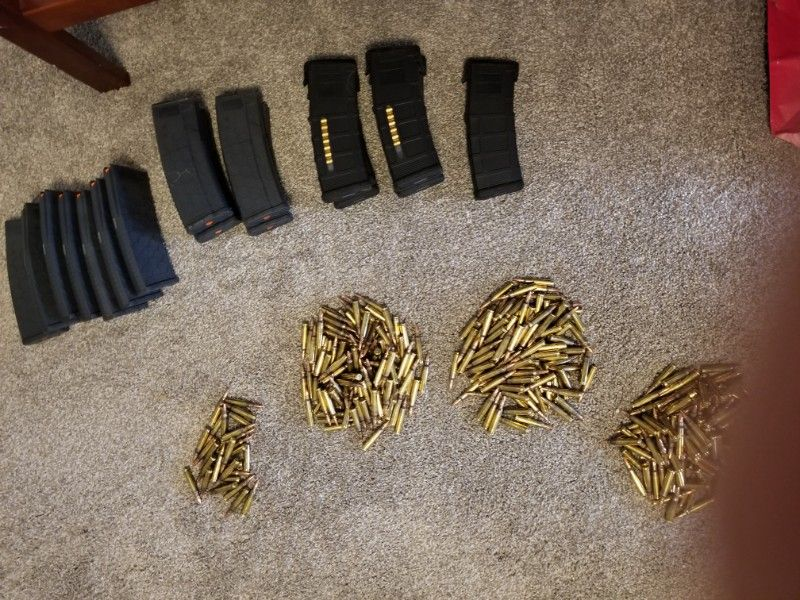 Ar-15 30rd mags. Pmag/hexmag w/ ammo. OR TRADE