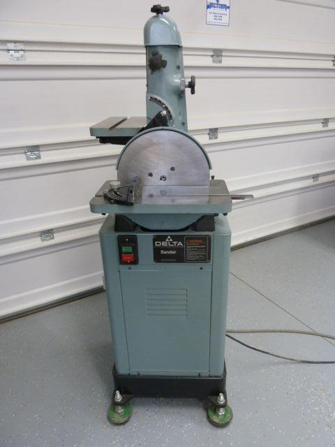 "Delta 6"" x 48"" Belt and 12"" Disc Sanding Machine-REDUCE TO SELL"