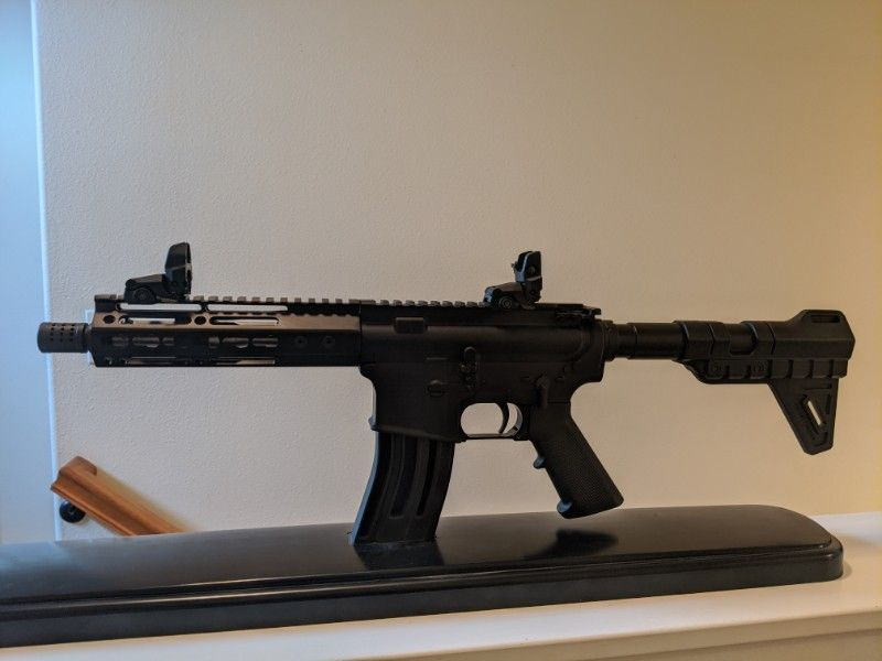 AR15 Pistol 7 inch barrel.  $650 Private Party.