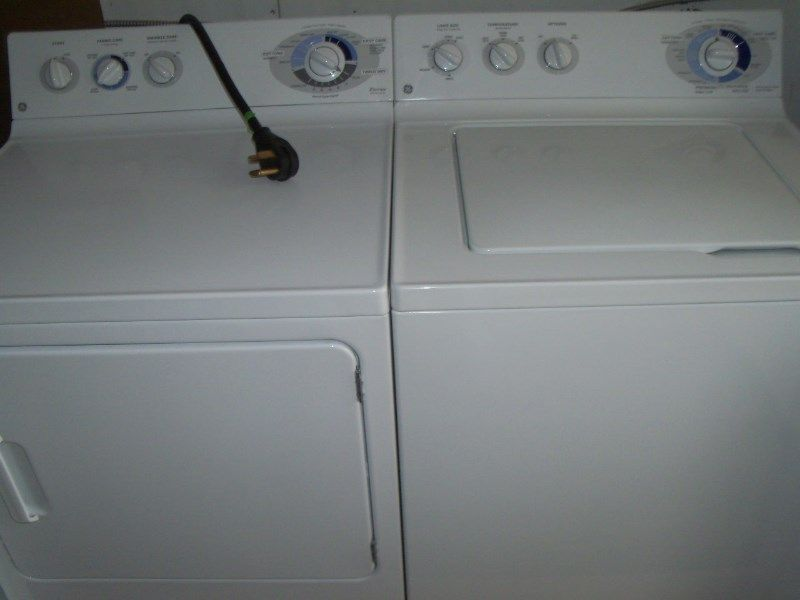 GE washer/electric dryer set