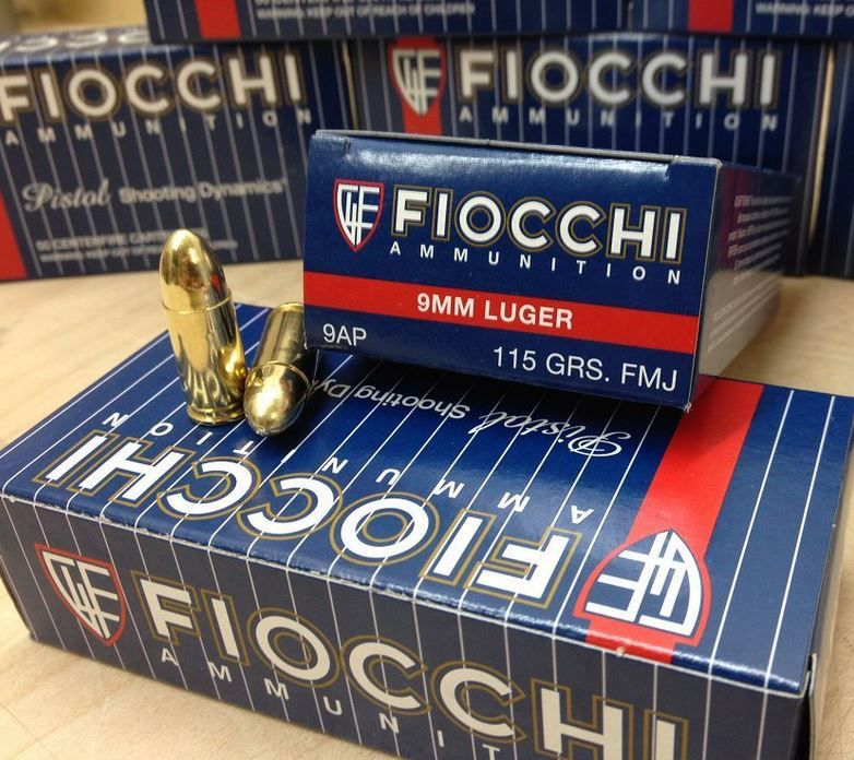 700 Rounds of Fiocchi 9mm 115gr