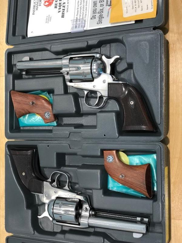 SASS PAIR of Ruger Vaquero 357 Mag Revolvers