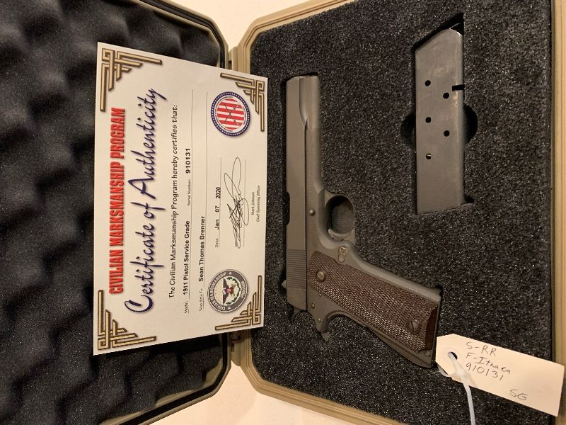 WWII Remington 1911 combat issued pistol.