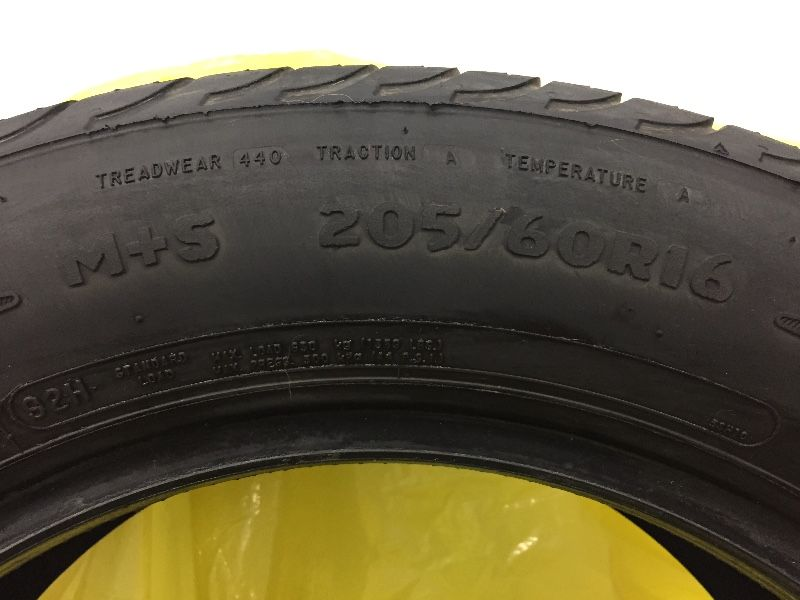 4 Tires - 205/60R16 - $275