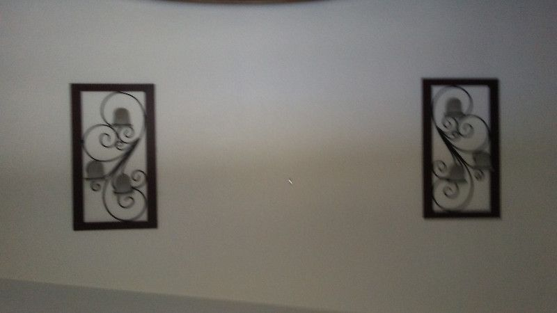 Two (2) Decorative wall candle holders